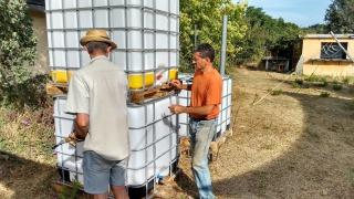 Sao Paulo IBC biogas digester